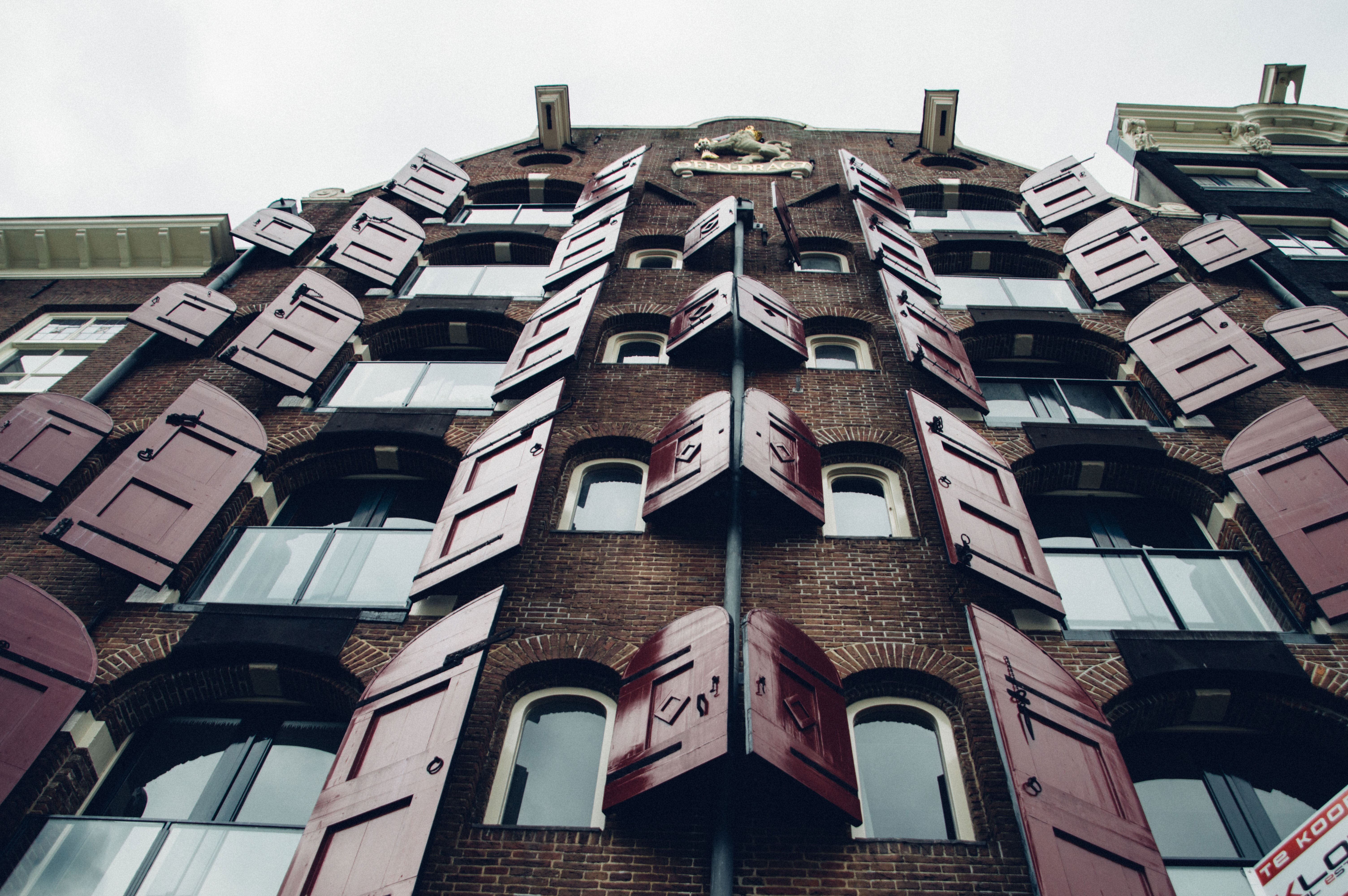 Volets rouges Amsterdam