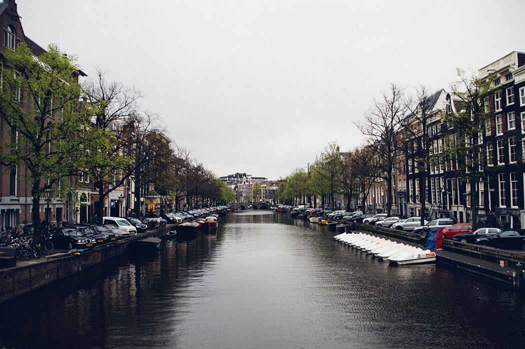 ciel gris à Amsterdam