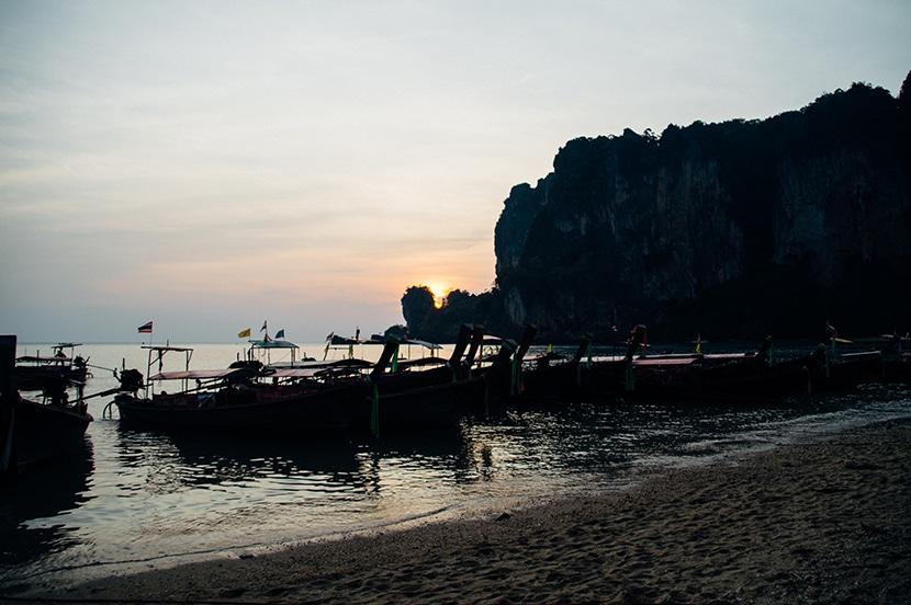 coucher de soleil thailande