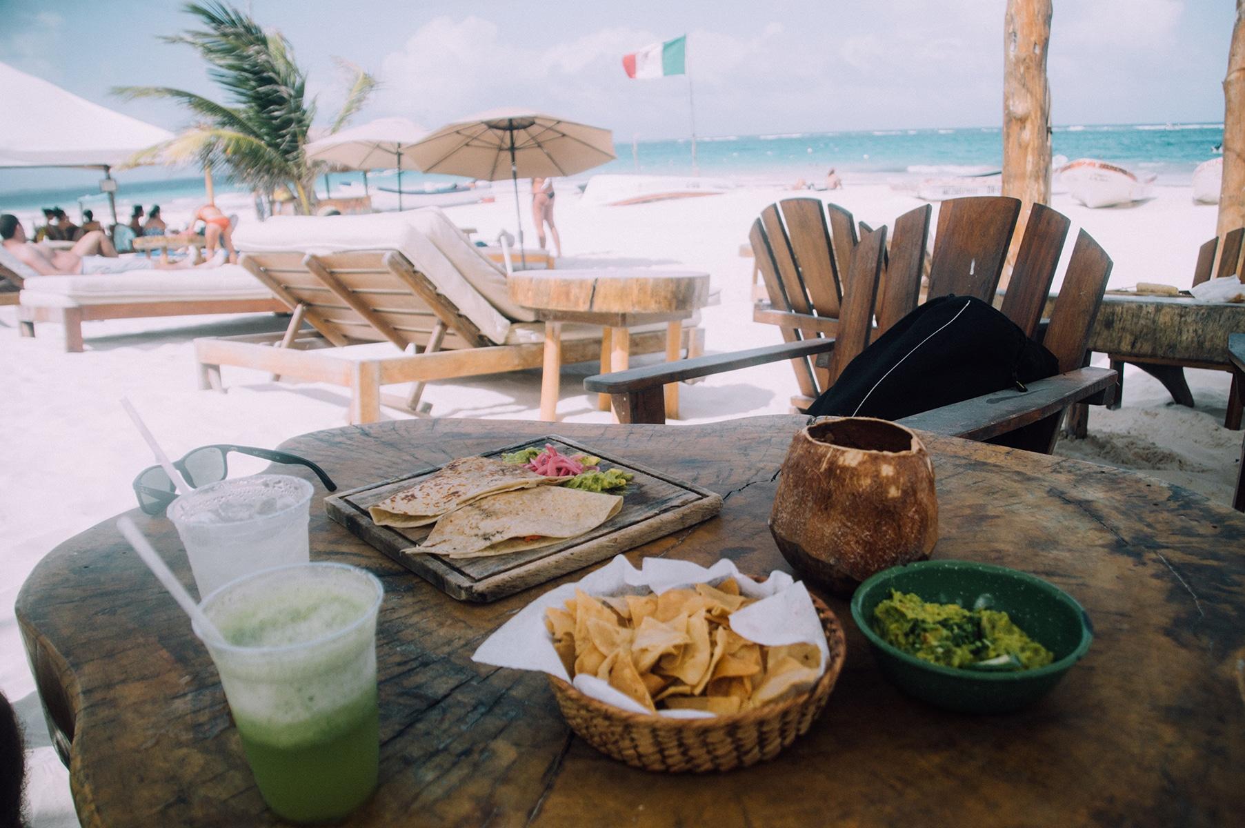 restaurant plage tulum