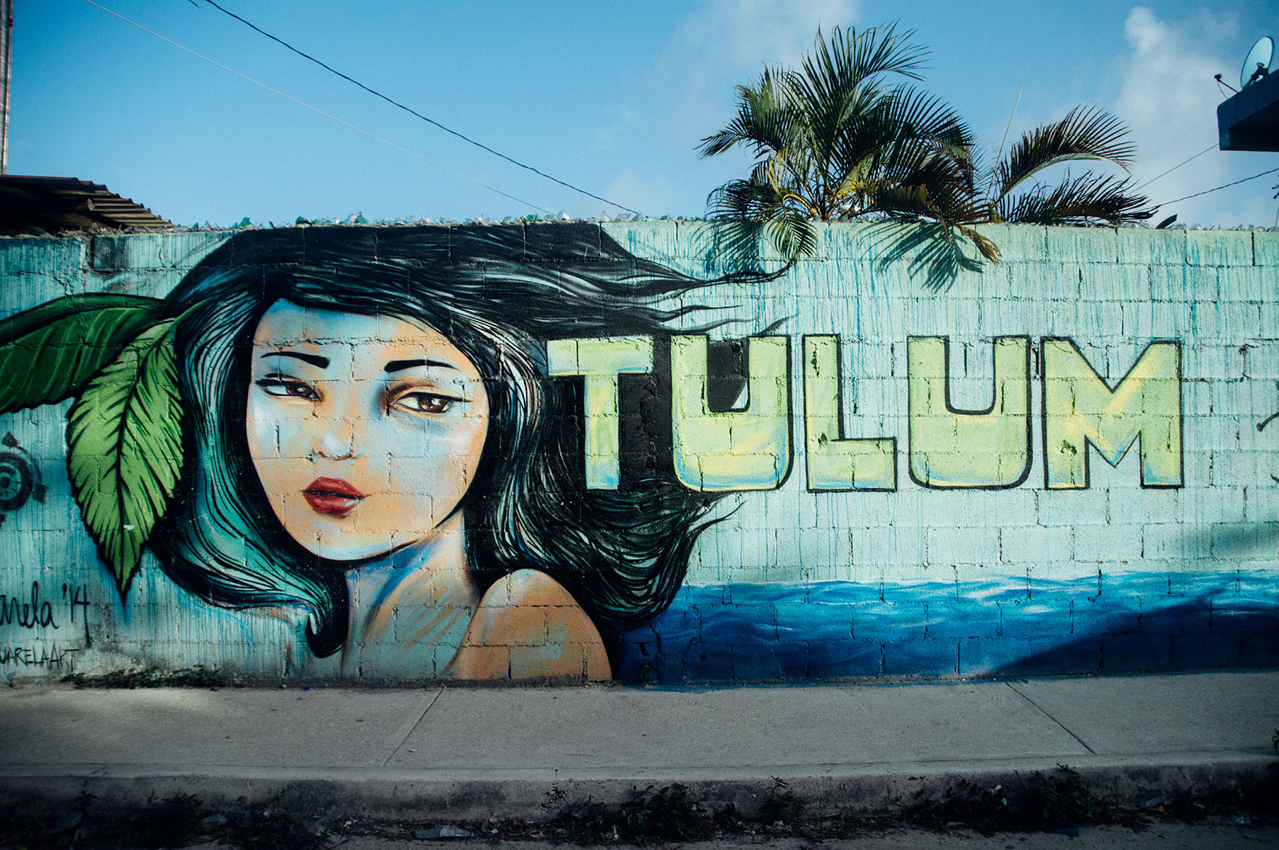 Tulum street art the frenchie Abroad