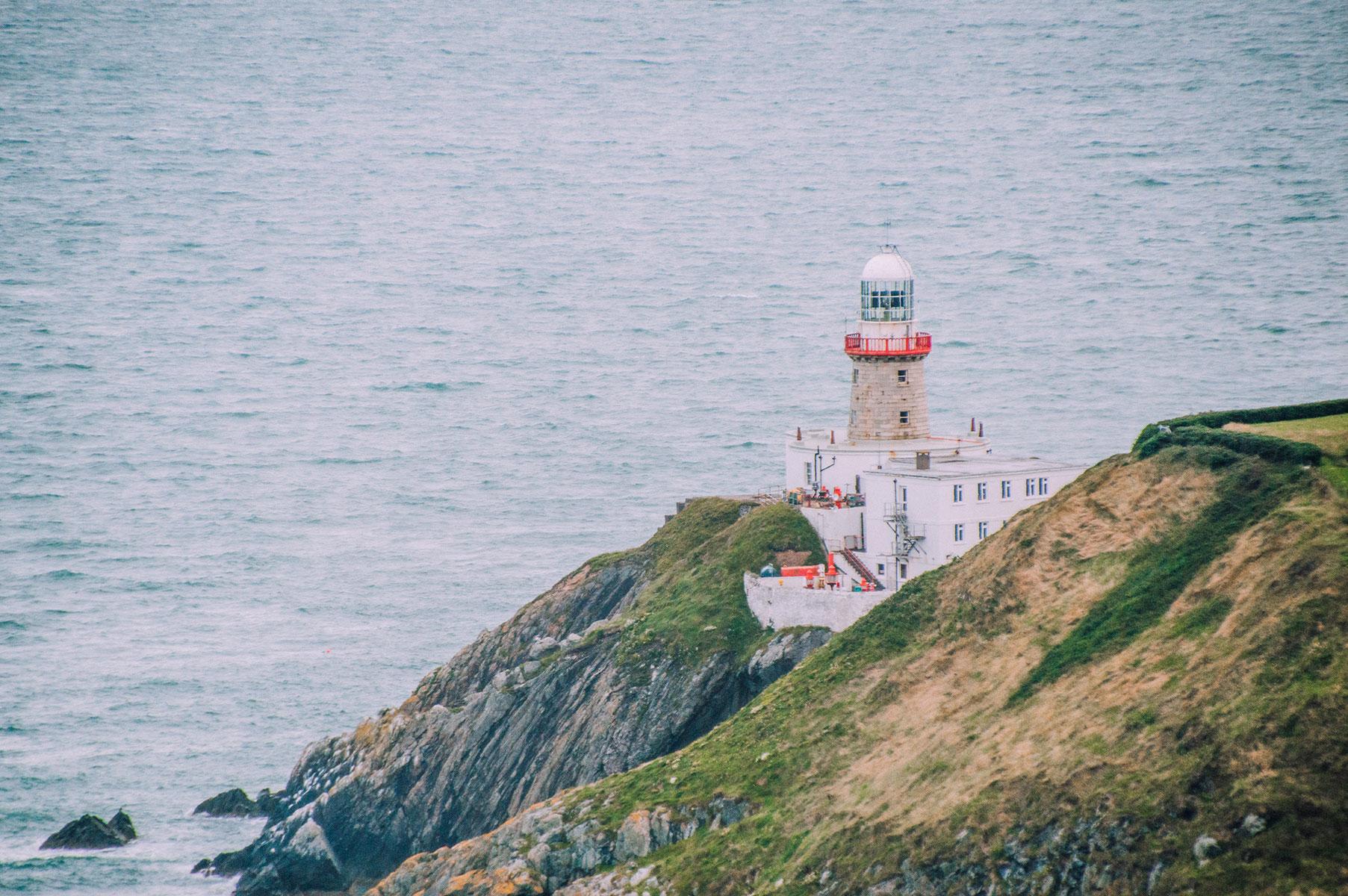 Dublin Howth phare falaise