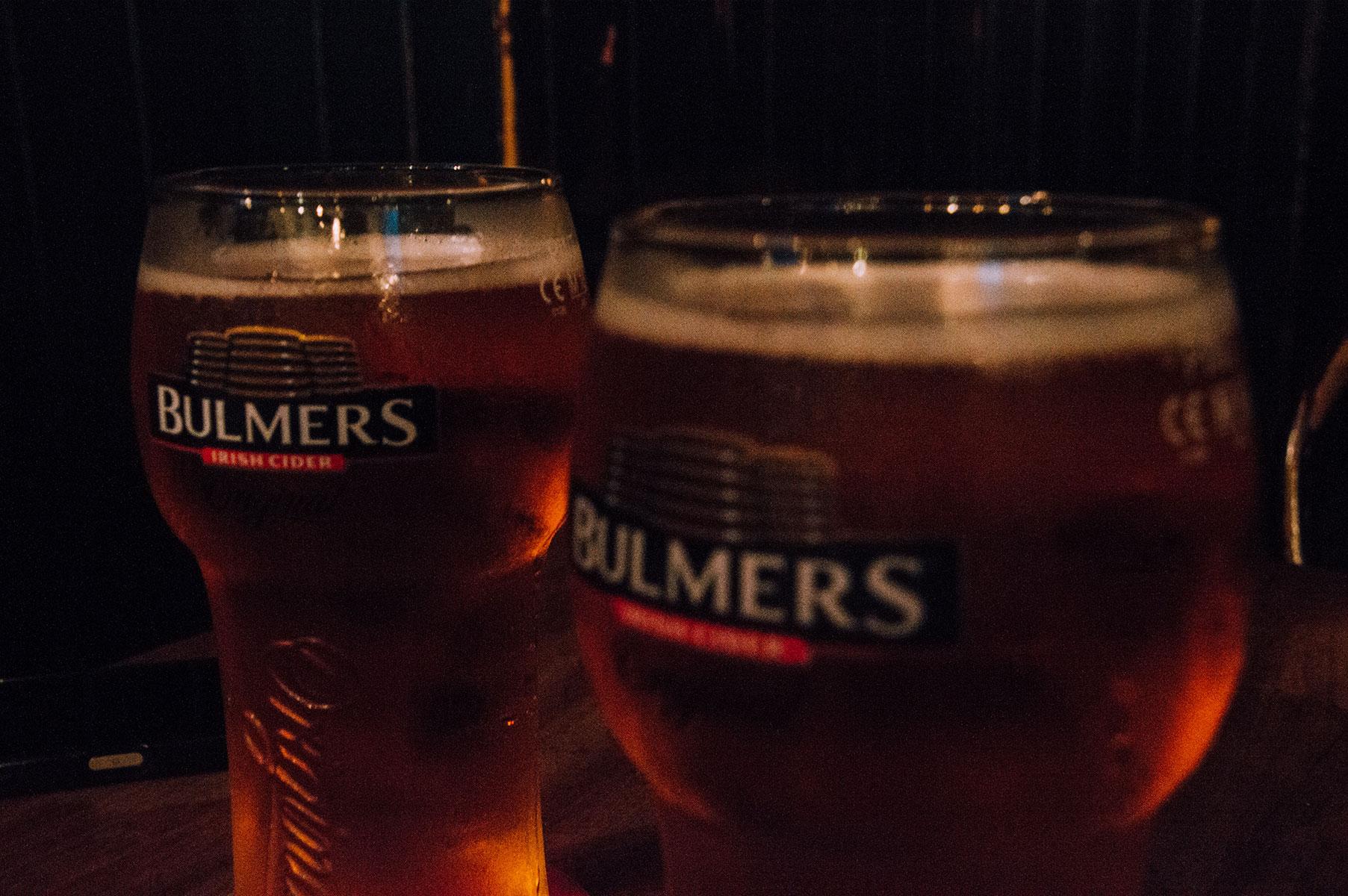 Dublin pub cidre Bulmers