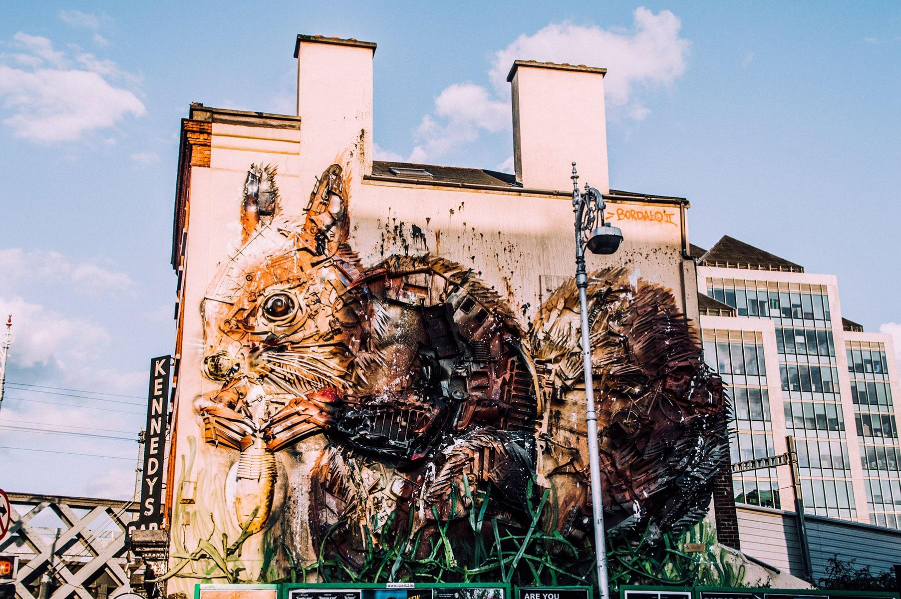 Lapin street art Dublin