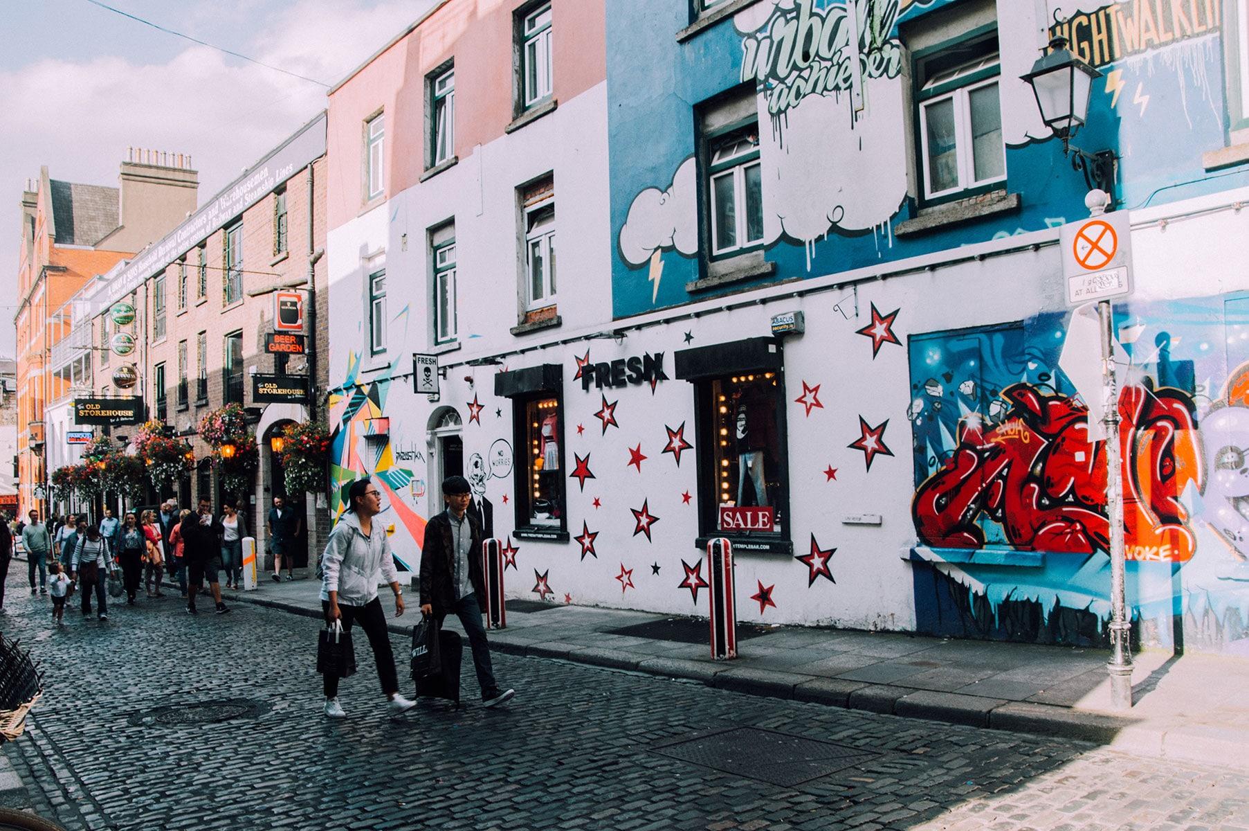 Street Art temple bar dublin