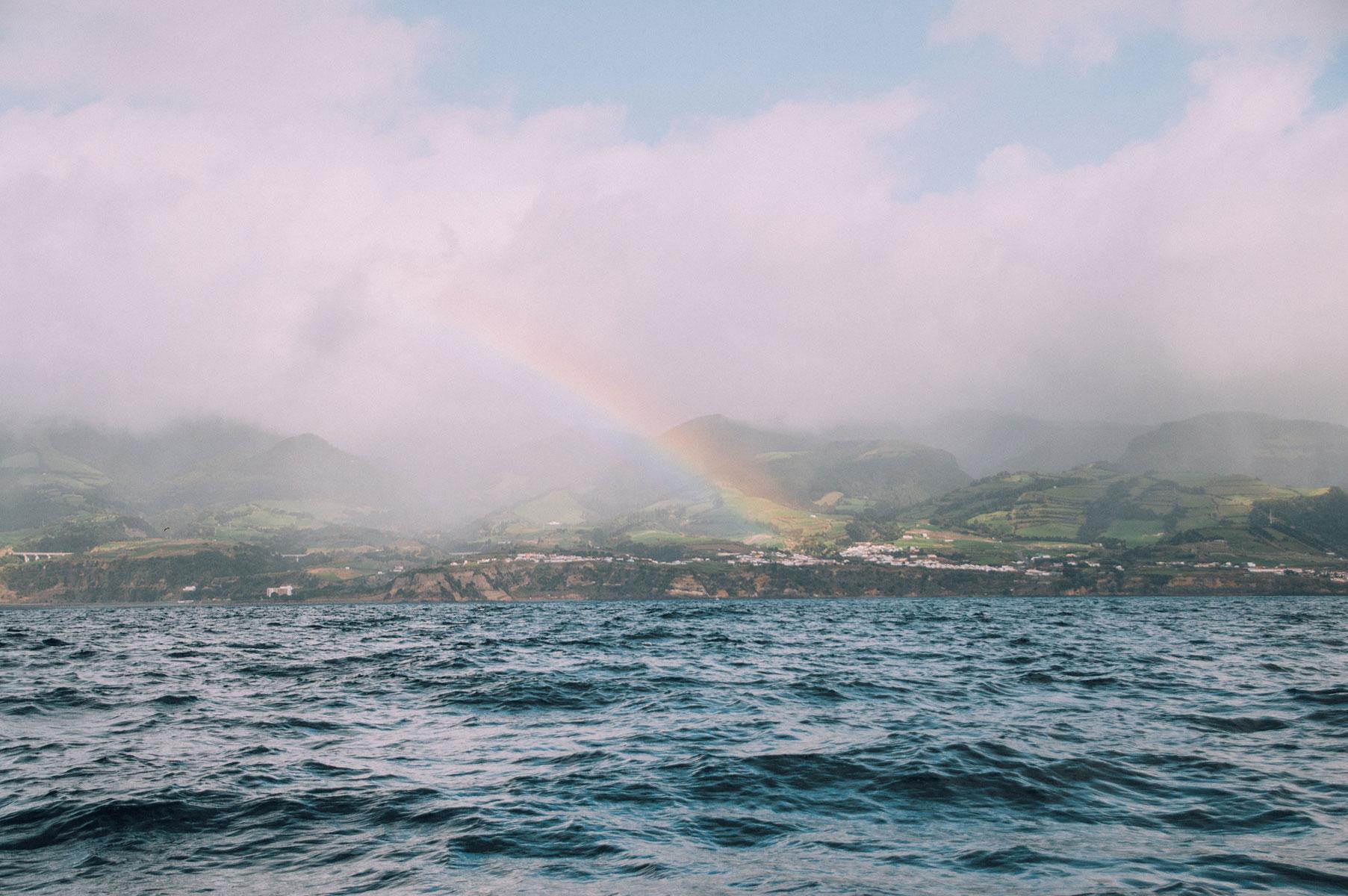 paysage mer arc en ciel