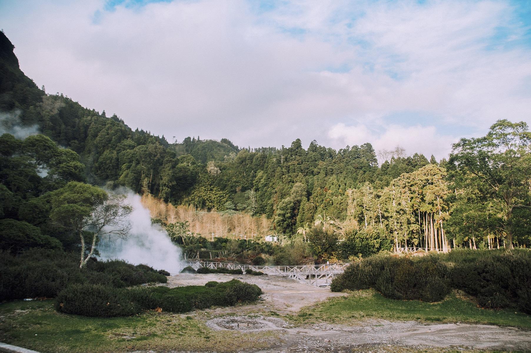 Açores furnas volcan